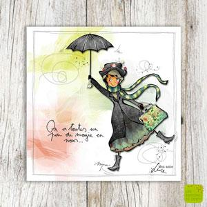 """Carte postale """"Un peu de magie en nous"""""""
