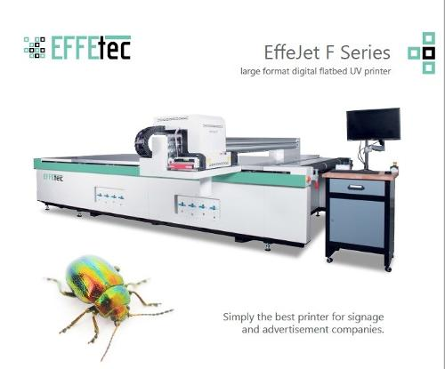 EffeJet – UV Curable Flatbed Printer