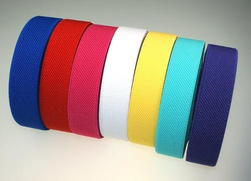 Gummiband in 10 - 80mm Breite, verschiedene Farben