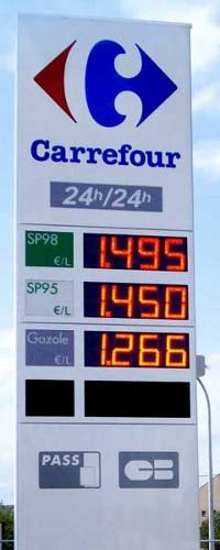 Afficheur carburant