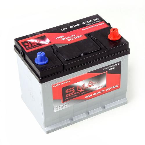 Asian Car Battery 80ah Made in Italy