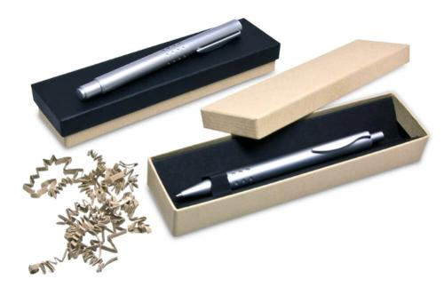Environmentally friendly packaging for writing instruments
