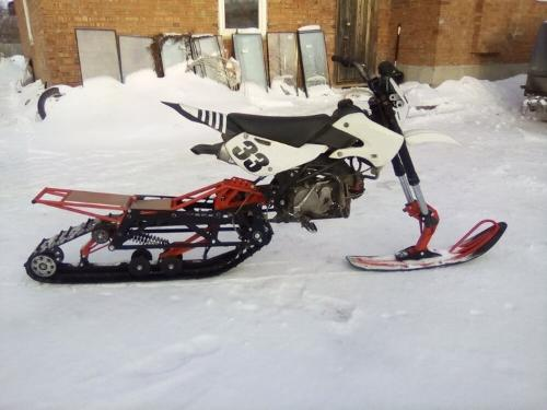 Snowbike KIT for motorcycle 250 cubic cm.