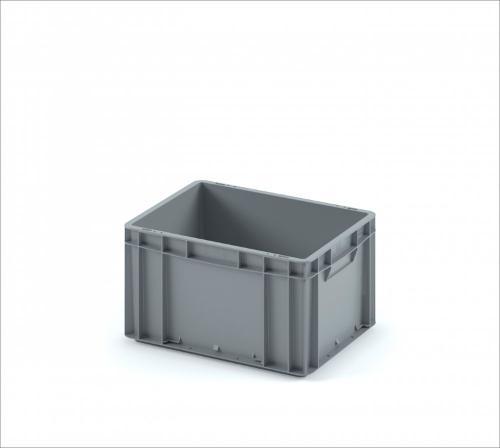 Plastic crate 400х300х220 (ЕС-4322) with smooth solid bottom
