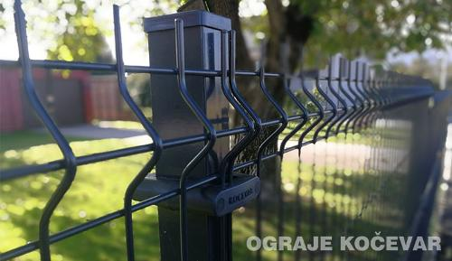 Wire fence panels 3D