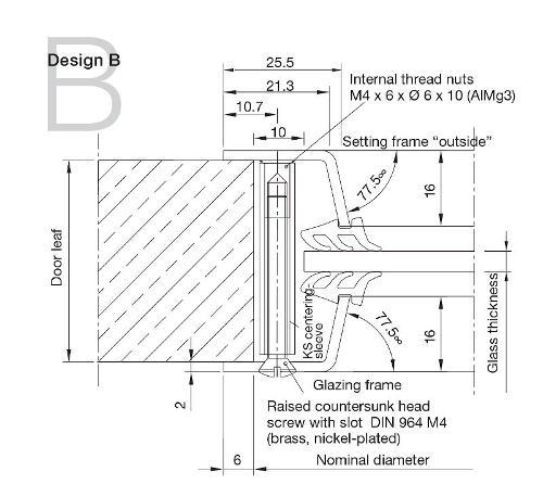 Aluminium Porthole Design B