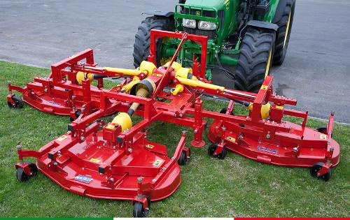 The Multicut lawnmower, front or rear