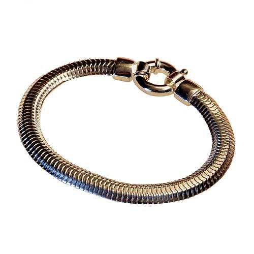 """silver bracelet double chain type """"snake"""" Reference  PA"""