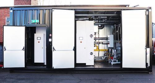 Instalação a vapor em contêiner - Caldeiras de vapor