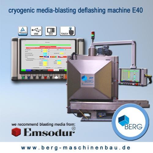 Installation d'ébavurage cryogénique E40