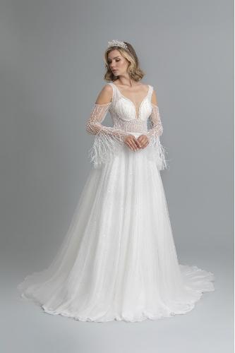 sheath weddingdress