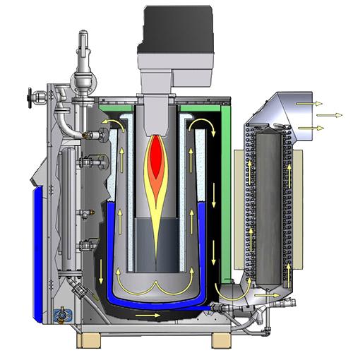 Dampferzeuger/Dampfkessel Öl oder Gasbefeuert