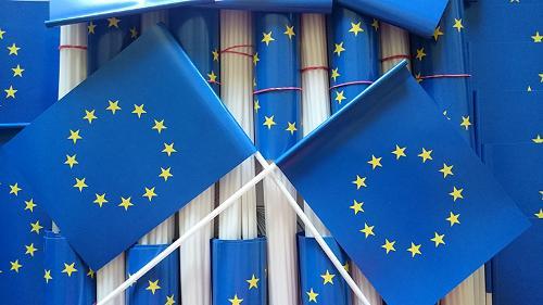 chorągiewki Unii Europejskiej