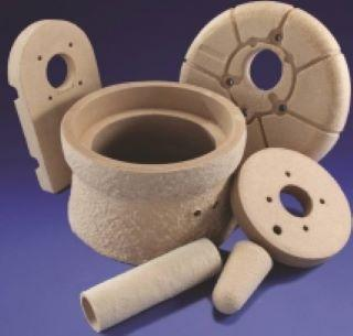 Ceramic fibre shapes
