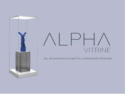 ALPHA VITRINE - the glass showcase