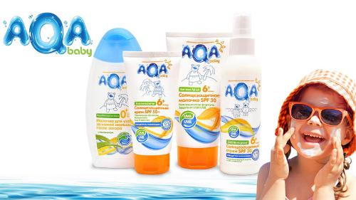 AQA baby — sun protection products