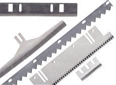 Lame de coupe dentée, perforation, d'ensacheuse…
