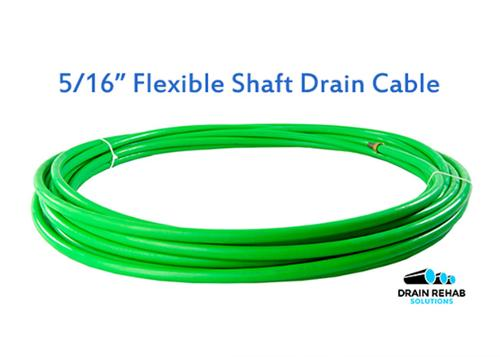 "Flexible Shaft Drain Cleaning Cables (5/16"")"