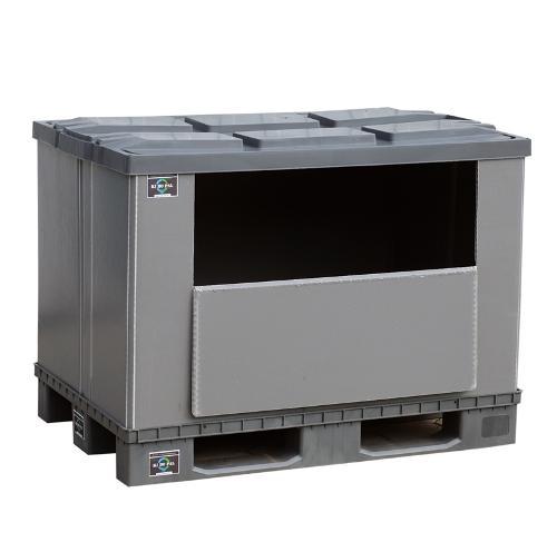 Palettenbox EuroBox mit Fenster 1200x800x900mm NEU
