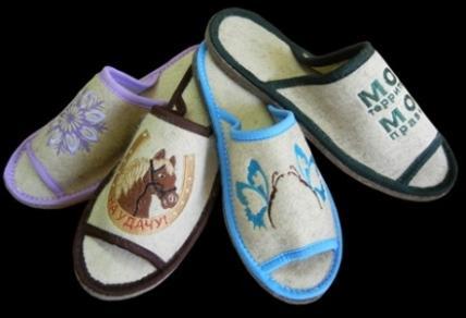 Домашняя обувь из войлока