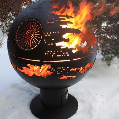 """Fire pit Orb """"The Death Star"""""""