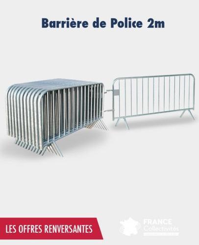 Promo barrière de police 2 m