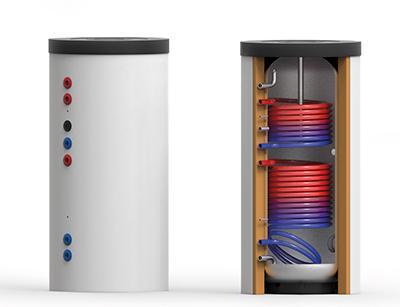 Edelstahl-Trinkwasser-Speicher EDS-2W 300 – 1000