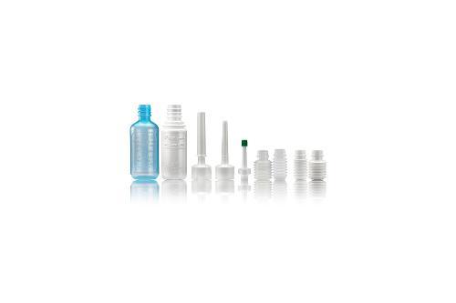 Bottiglie di plastica con vari sistemi di erogazione