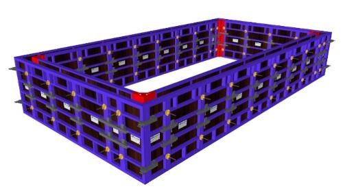 Coffrage modulaire pour piscine en béton armé