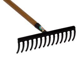 rastrello 14 denti acciaio 5 mm attrezzi giardino