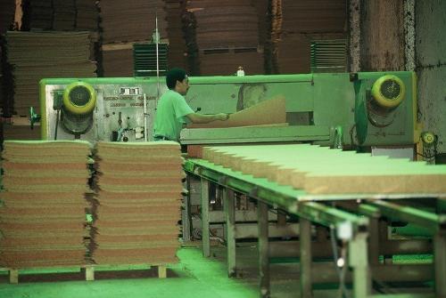 Presskorkplatten