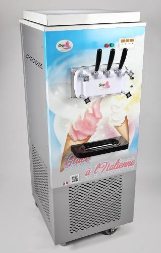 Machine à glace italienne sur roulettes