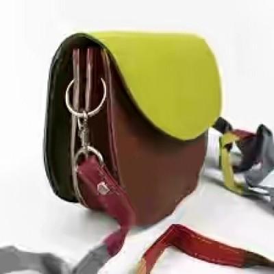 Leather Round handbag for ladies