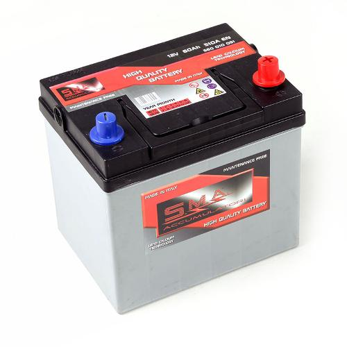 Batterie automobile asiatique 60ah Fabrication italienne
