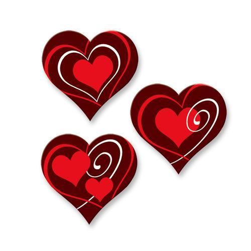 Günthart Schokoladen-Herz, rot, klein