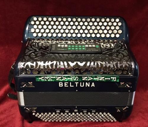 BELTUNA FINTAN STANLEY 5 ROW MIDI CHROMATIC ACCORDION USED