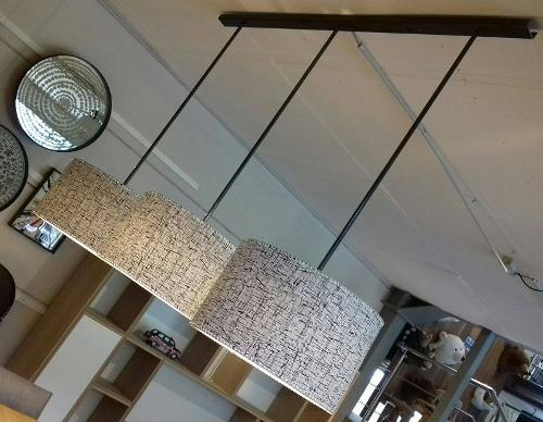 Suspension 3 lampes sur mesure