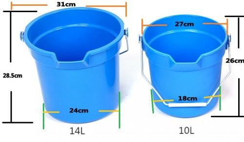 Plastic/PP water bucket with measuring scale /marks