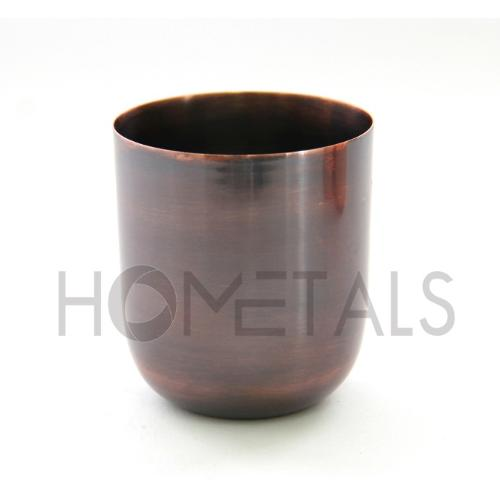 Copper antique candle containers for soy wax
