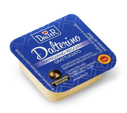 Vaschetta monodose 5g Parmigiano Reggiano grattugiato