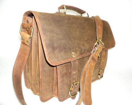 Hunter Leather Office Satchel Bag