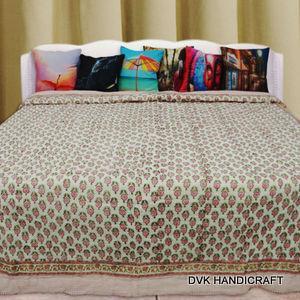 India traditional jaipuri razai (Quilt), block print kantha