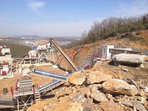 USED CRUSHING AND SCREENING PLANT FOR SALE