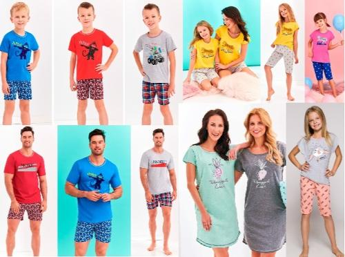 Piżamy i koszule nocne damskie, męskie i dziecięce