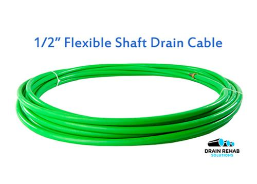 "Flexible Shaft Drain Cleaning Cables (1/2"")"