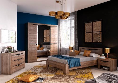 """Bedroom Set """"Sorento"""" Stirling Oak"""