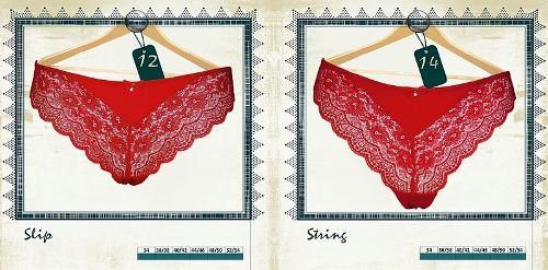 Slip et String Rouges Passion