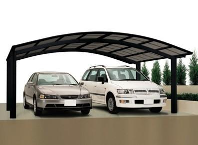 Abri voiture en métal double