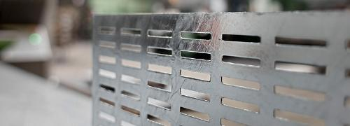 Galvanised perforated metal sheets