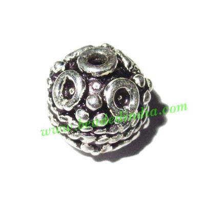 Sterling Silver .925 Fancy Beads, size: 8x9mm, weight: 1.54